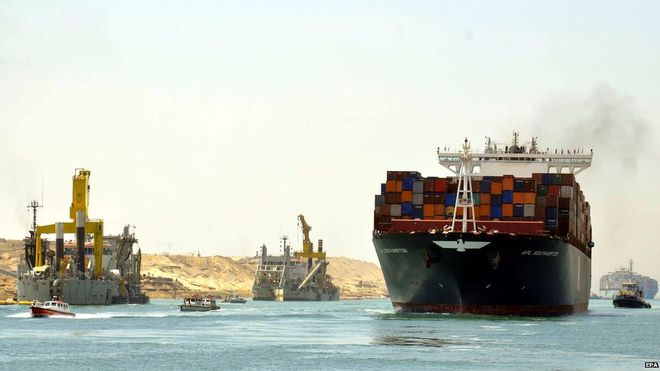 Successful Cargo Ship Trials for Egypt's second Suez Canal