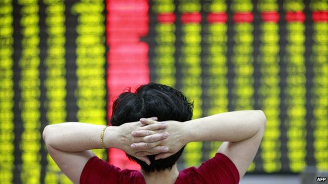 Jittery China shares fall yet again more than 8% amid growth fears